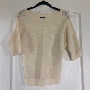 Express Cream 1/2 Length Sleeve Sweater